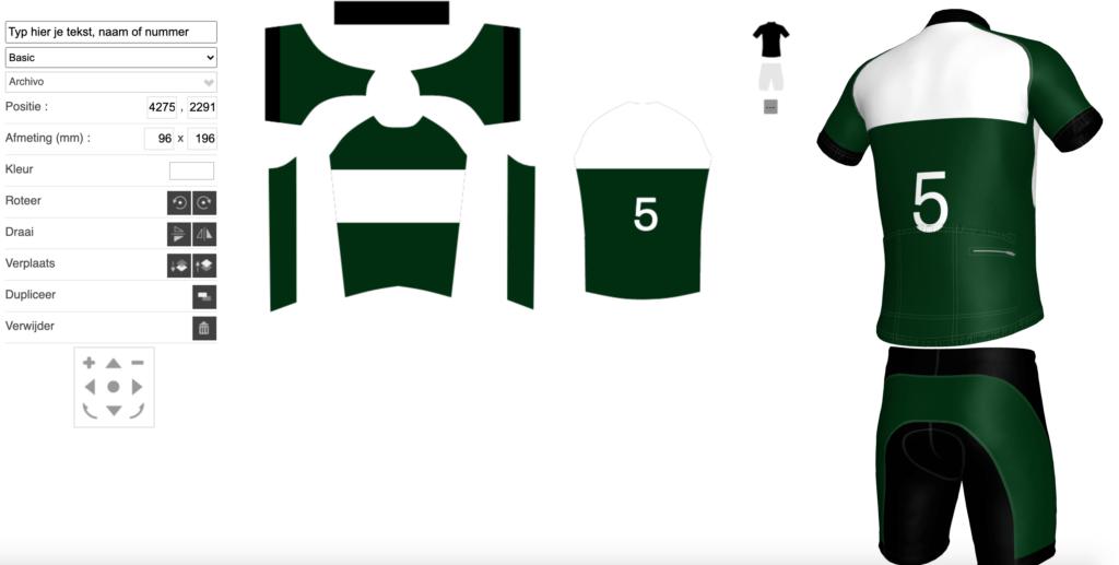 Fietskledij ontwerpen stap 5